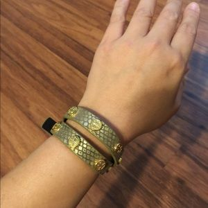 Tory Burch Logo Wrap Bracelet